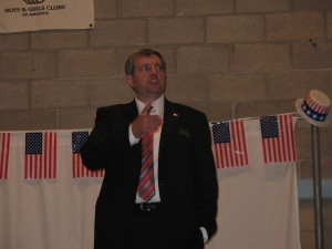 Art Garrison at Republican debate for NYS 126th Assembly seat
