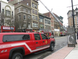 Downtown Binghamton fire at 73 Court Street