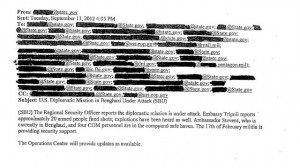 State Department email about Benghazi attack