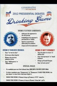 Presidential debate drinking game