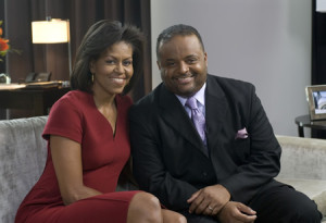 Michelle Obama on TV One with Roland Martin