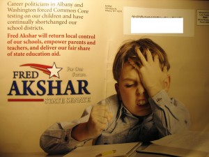 Fred Akshar election mailer Common Core