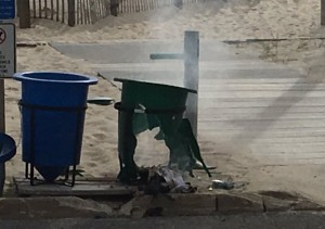 Aftermath of Seaside NJ pipebomb