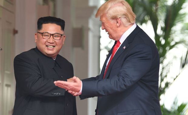 President Trump and North Korean dictator Kim Jong Un meet