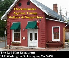 Red Hen restaurant - site of political bias