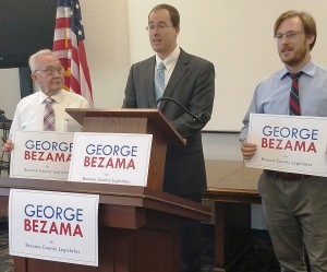 Left to Right: Candidate Bob Seidel; Candidate George Bezamal; Karl Bernhardesn