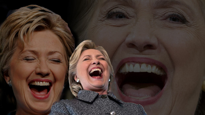 Laughter of Hillary Clinton