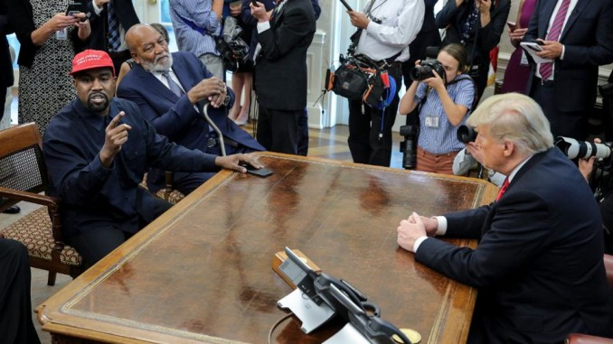 Jim Brown and Kanye West visit President Trump in White House