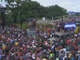 Migrants flood into Mexico - credit CNBC