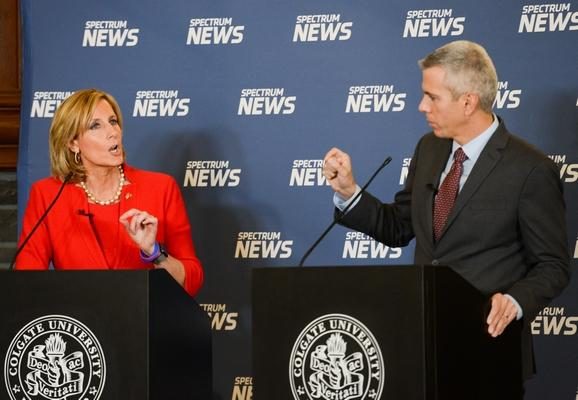 Congresswoman Tenney and Anthony Brindisi at Spectrum News Debate at Colgate