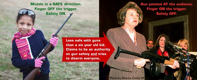 Sen. Feinstein has no firearm safety knowledge