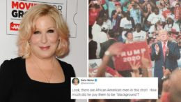 The racism of Bette Midler's tweet is being minimized and obfuscated