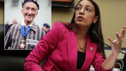 AOC invited to see actual concentration camps by survivor
